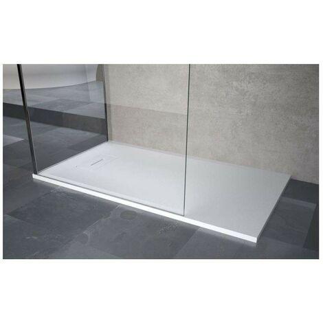 Plato de ducha rectangular en resina negro mate Novellini Novosolid