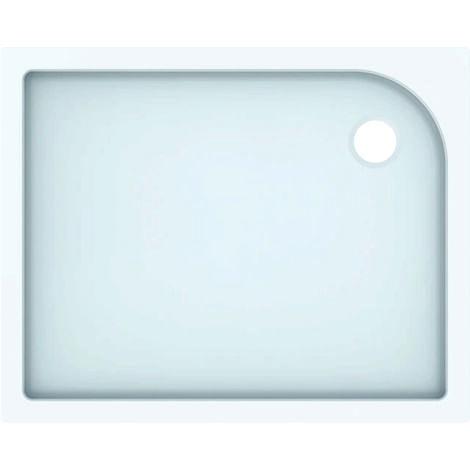 Plato de ducha rectangular Geberit Tala, brillante/blanco, 100 x 80 cm - 662410000