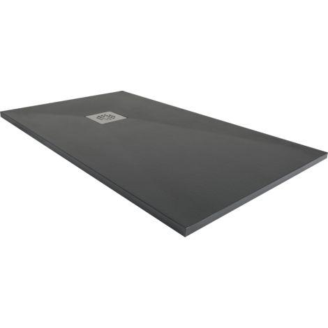 Plato de ducha resina ancho 80 grafito ral-7016