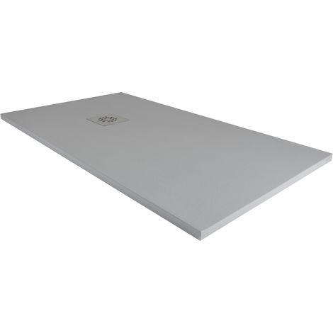 Plato de ducha resina ancho 80 gris ral-7040