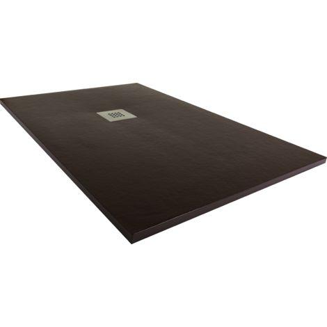 Plato de ducha resina ancho 80 marrón ral-8012