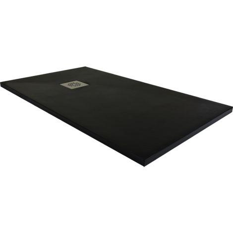 Plato de ducha resina ancho 90 negro ral-9005