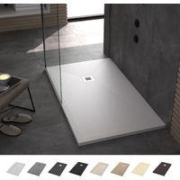 Plato de Ducha Resina Antideslizante Stone - Liso y Extraplano - Todas las medidas disponibles - Incluye Sifón y Rejilla