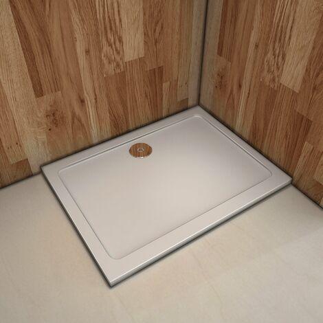 Plato de ducha Resina Blanco, Extraplano, Rectangular 100x90cm