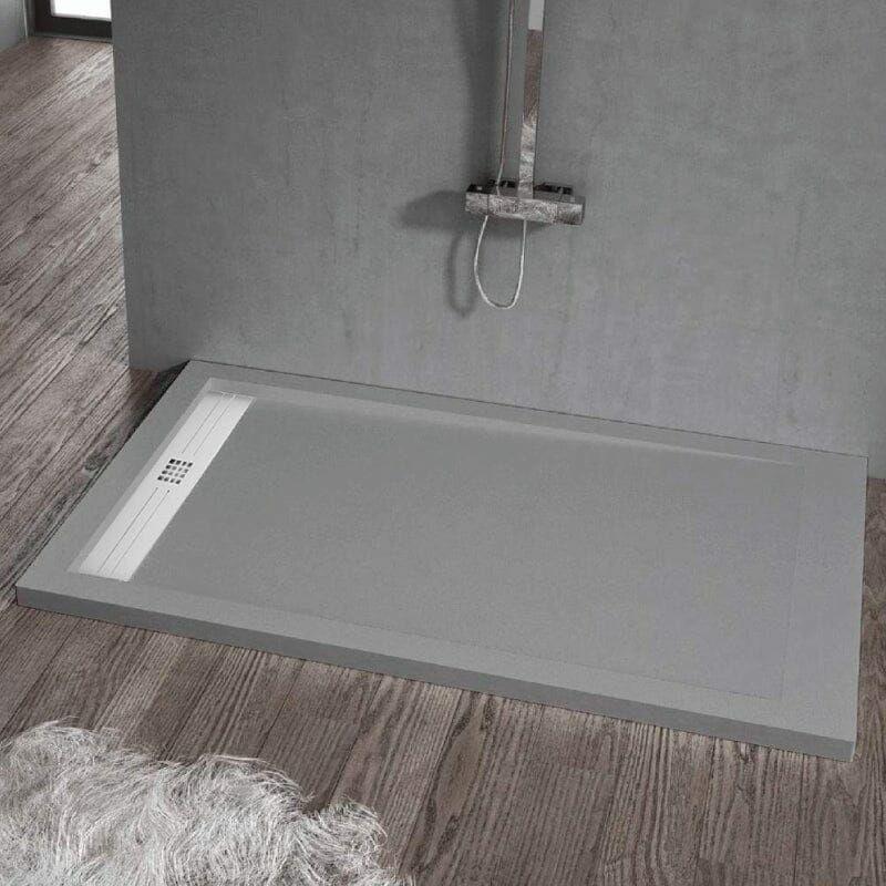 Plato de ducha resina ELITE CENIZA 70x130 cm