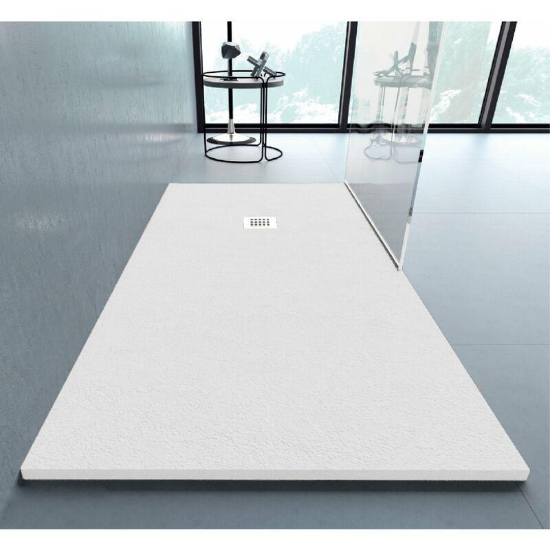 Plato de ducha resina ANDERSON BLANCO 100x130 cm