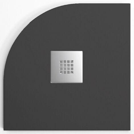 Plato de ducha resina MADISON CURVE de 80 cm de ancho STANO ANTRACITA 80x80 cm (radio 50)