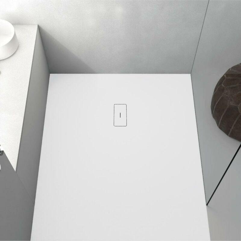 Plato de ducha resina FUSION BLANCO 80x100cm