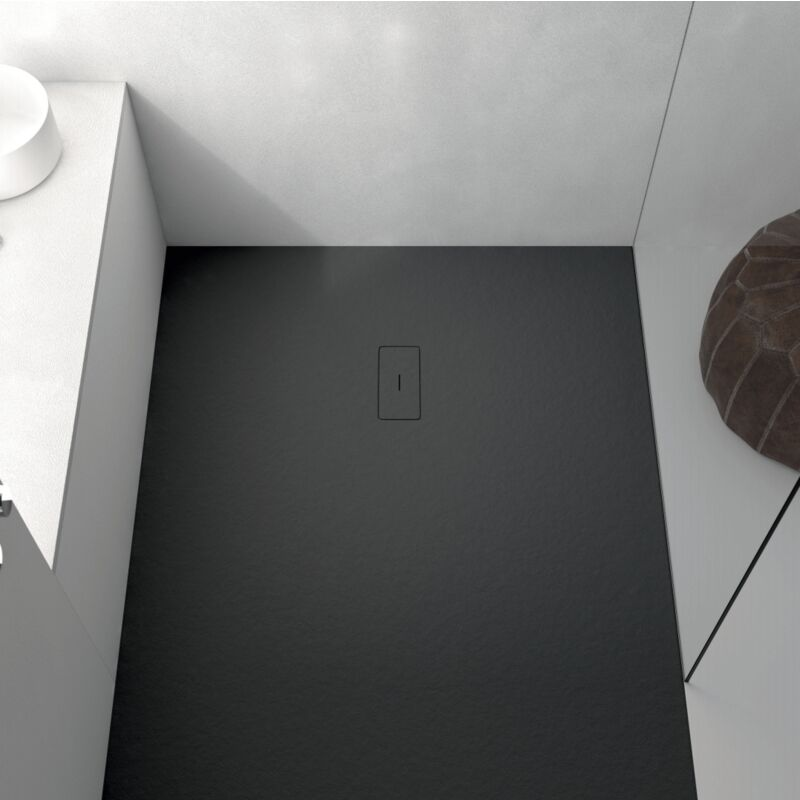 Plato de ducha resina FUSION NEGRO 80x170cm