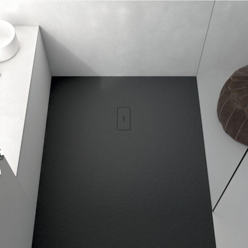 Plato de ducha resina FUSION NEGRO 70x80 cm