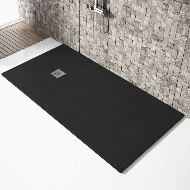 Plato de ducha resina MADISON NEGRO 90x150cm