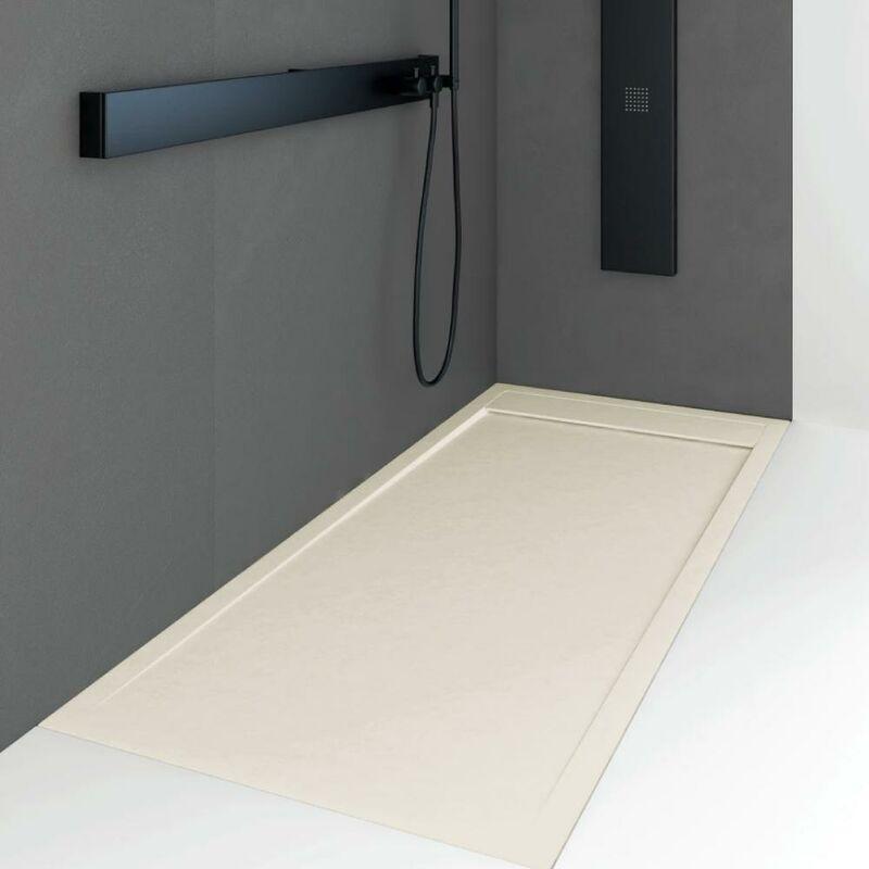 Plato de ducha resina QUORE CREMA 80x150cm