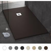 Plato de Ducha Resina Pizarra Stone - Antideslizante y Extraplano - Todas las medidas disponibles - Incluye Sifón y Rejilla