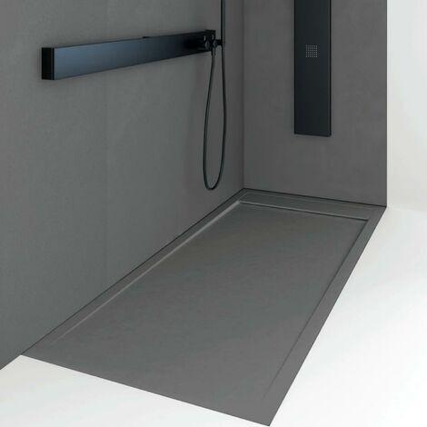 Plato de ducha resina QUORE ANTRACITA 90x100cm