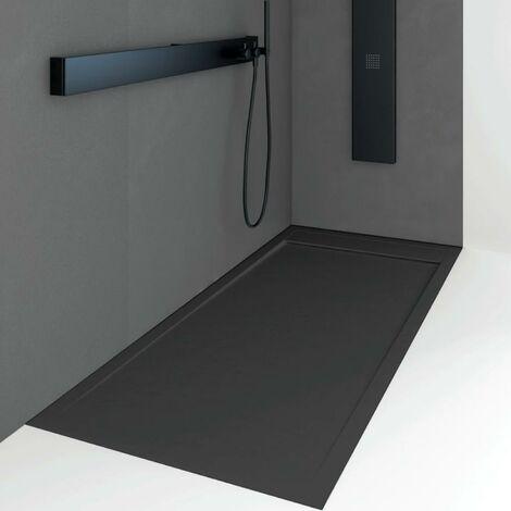 Plato de ducha resina QUORE NEGRO 90x100cm