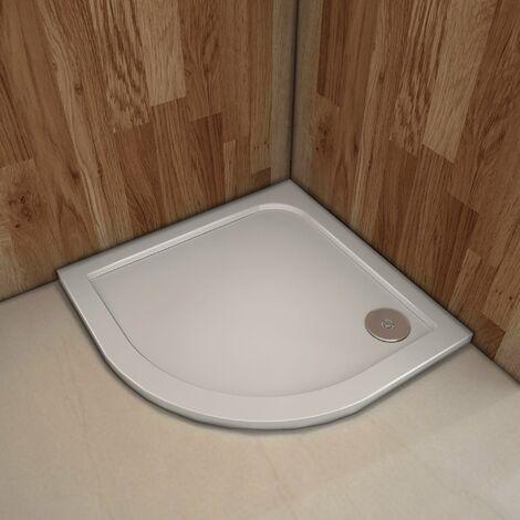 Plato de ducha Resina Semicircular 90x90cm Extraplano Blanco