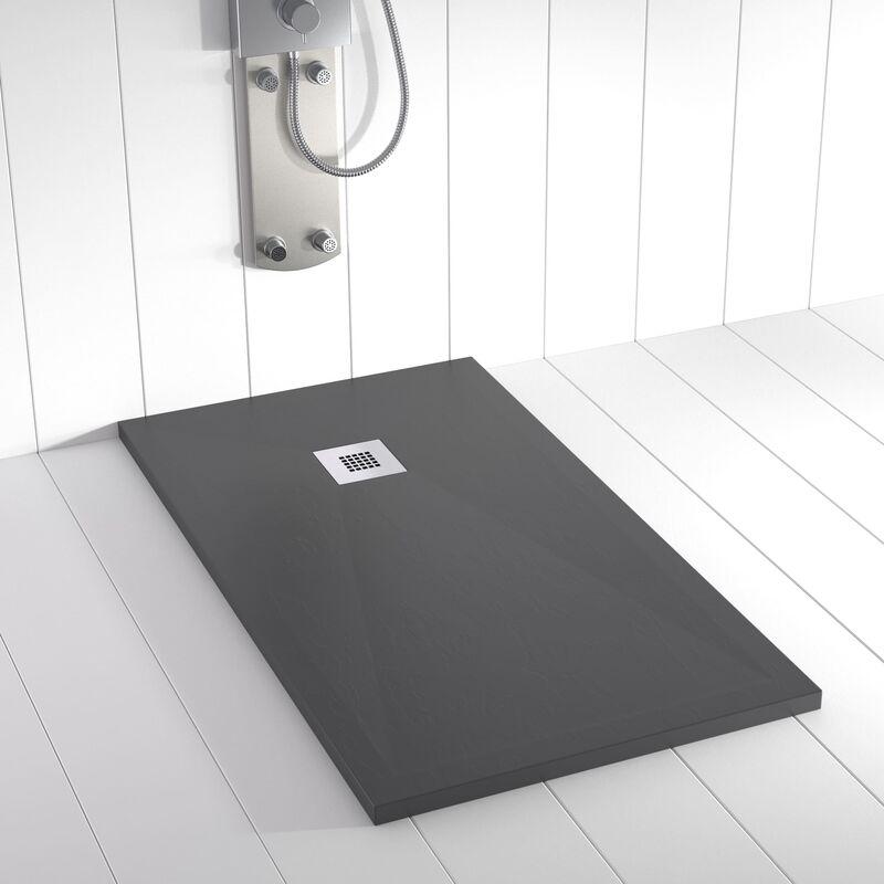 Plato de ducha Resina Stone PLES Antracita -70x150 cm - SHOWER ONLINE