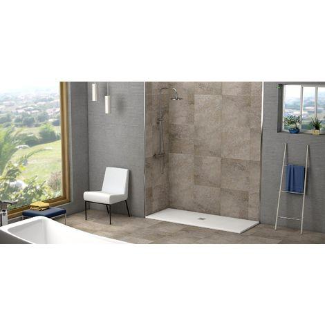 Plato de ducha resina (textura pizarra) Gris cemento