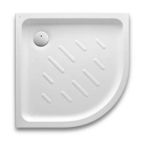 Plato de ducha Roca Easy acrílico angular con fondo antideslizante 800x800x65mm Blanco