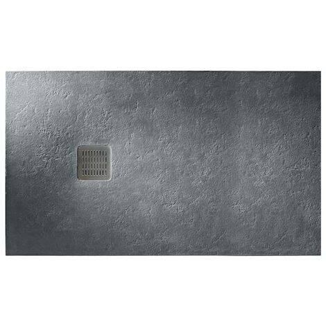 Plato de ducha Roca Terran extraplano de STONEX® 1000x900mm Pizarra