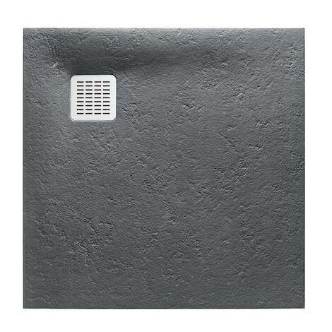 Plato de ducha Roca Terran extraplano de STONEX® 800x800x26mm Pizarra
