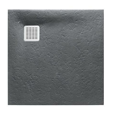 Plato de ducha Roca Terran extraplano de STONEX® 900x900x28mm Pizarra