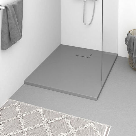 Plato de ducha SMC gris 100x80 cm