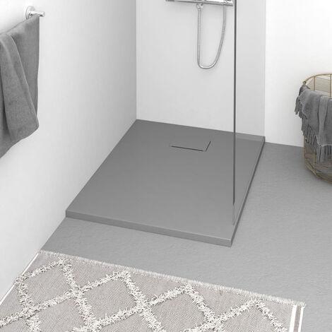 Plato de ducha SMC gris 90x70 cm