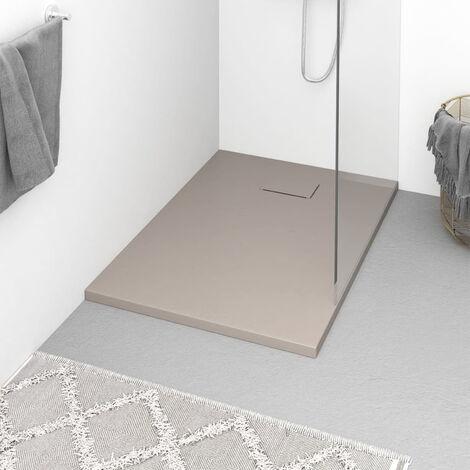 Plato de ducha SMC marron 100x70 cm