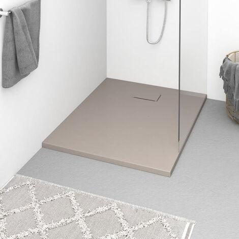 Plato de ducha SMC marron 100x80 cm