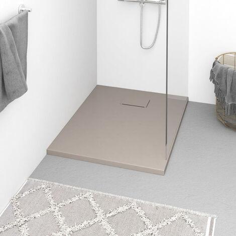 Plato de ducha SMC marron 90x70 cm