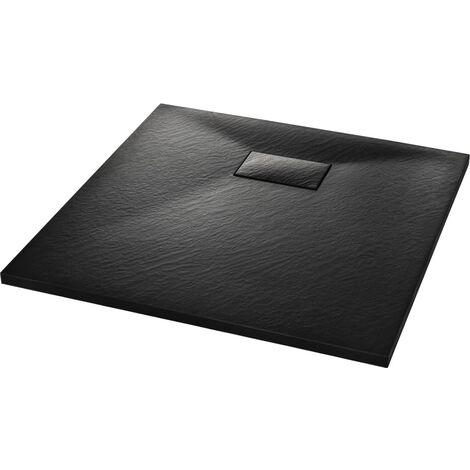 Plato de ducha SMC negro 90x90 cm