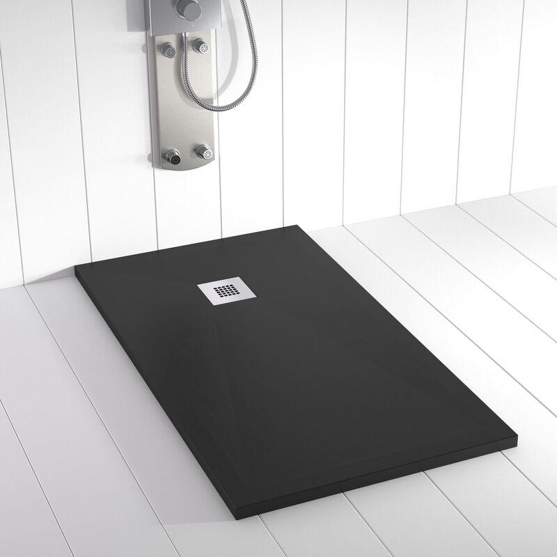 Plato de ducha Resina Stone PLES Negro Ral 9005 - 90x140 cm