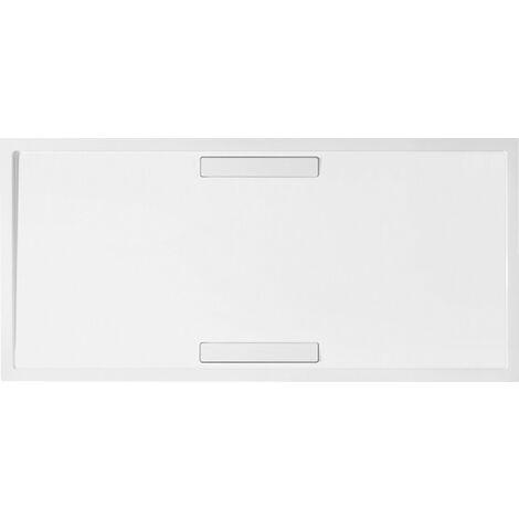 Plato de ducha Villeroy y Boch rectangular Squaro 140x90x1,8cm, incl. desagüe, incl. patas, blanco Super Flat - UDQ1490SQR2V-01