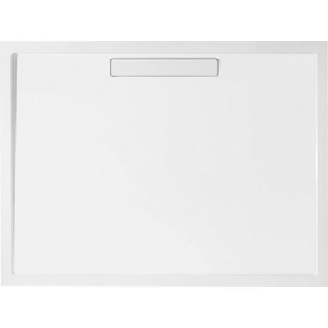 Plato de ducha Villeroy y Boch Squaro rectangular Quaryl 120x90x1,8cm, incl. desagüe, incl. pies, blanco - UDQ1290SQR2V-01
