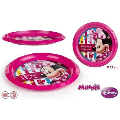 Plato de plástico llano Minnie (21.5x21.5x2)