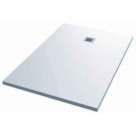 Plato ducha resina Vulcano 160x80 cm blanco Alterna