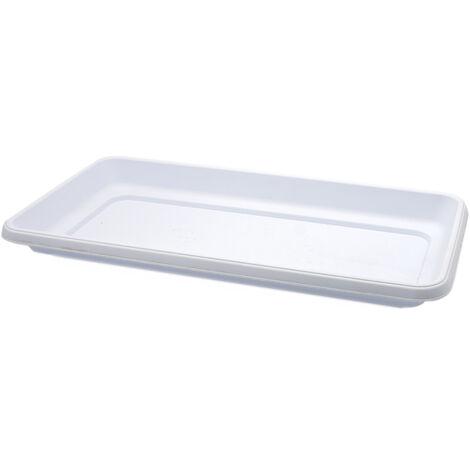 Plato jardinera alta de plastico 60 cm Blanco