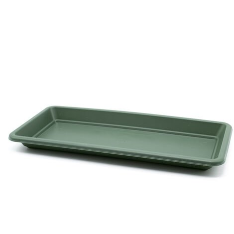 Plato jardinera de plastico 40 cm Verde