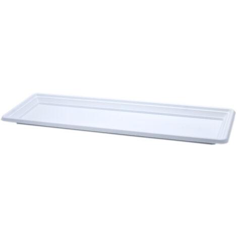 Plato jardinera de plastico 60 cm Blanco