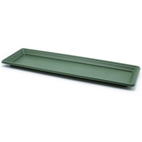 Plato jardinera de plastico 60 cm Verde