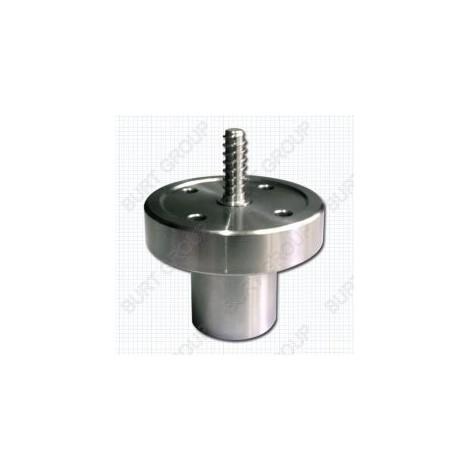 Plato liso de 75 mm de diámetro para cuencos, con tornillo central y rosca M33 WSC 75 Lombarte