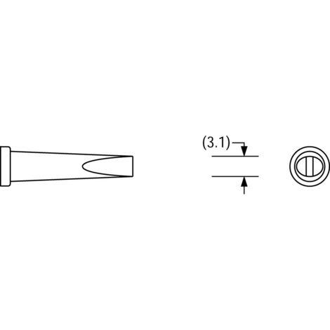 Lotdepot LT GW//3,1 x 2,1 mm Plato Lötspitze für Weller Serie LT