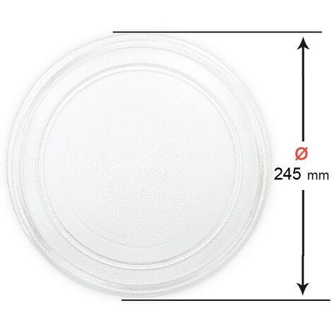 Plato Microondas Diámetro Ø 245mm Universal Liso