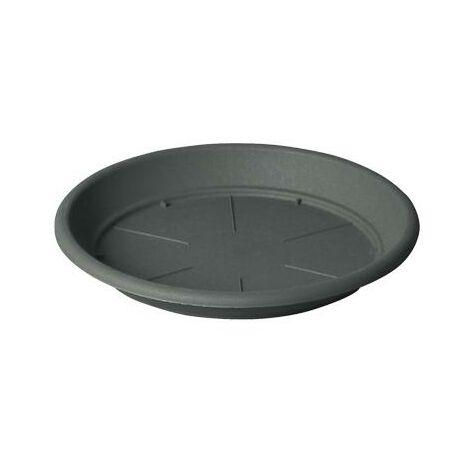 Plato para maceta PVC Iniezione - Antracita 14 cm