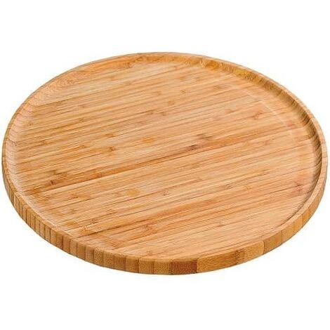 Plato redondo madera de bambu 25 cm