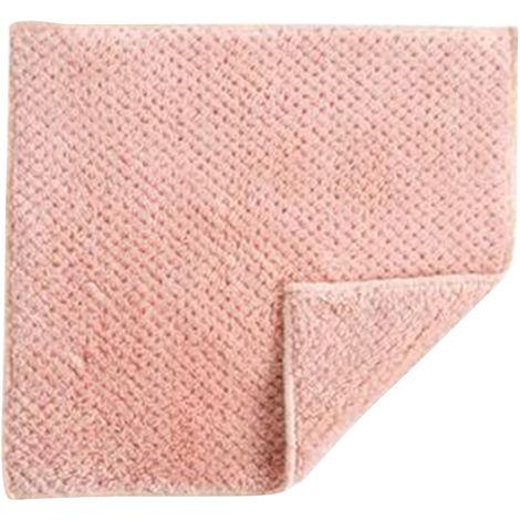 Plato suave mullido Toallas pano grueso y suave pano de limpieza toallas de cocina absorbente de agua de secado rapido, Rojo