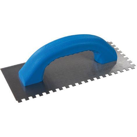 Platoir à colle avec poignée en D 230 x 100 mm - dents 6 mm