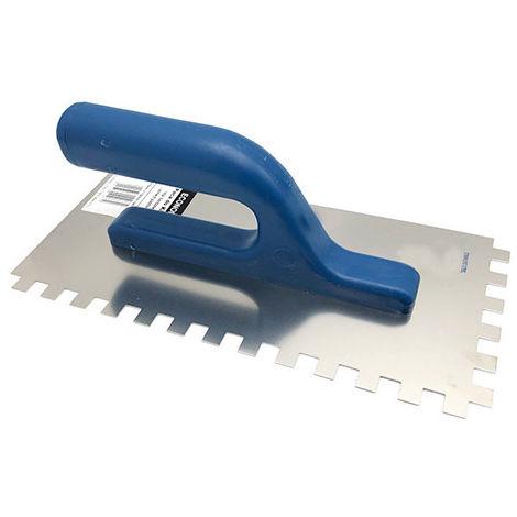 Platoir à colle rectangulaire 270 x 130 mm 2 faces à dents 10 x 10 mm Inox spécial carreleur - Diamwood platinum