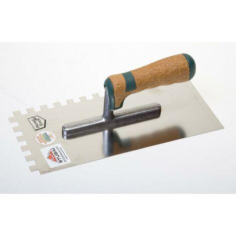 Plâtoir crantée manche en liège - 10 mm